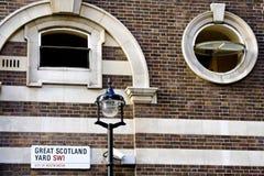 Ściana na Wielkim Scotland Yard Zdjęcia Stock