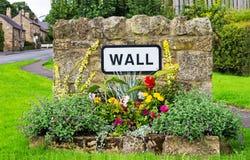 Ściana, Niorthumberland, Anglia Zdjęcie Royalty Free