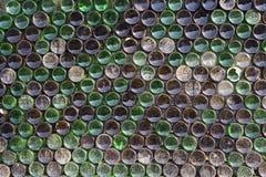 Ściana piwne butelki Fotografia Stock