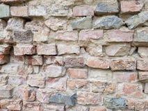 Ściana robić stare łamać cegły obrazy royalty free
