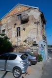 Ściana stary dom w Belgrade Obraz Royalty Free
