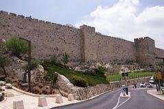 Ściana stary Jerozolima Obrazy Royalty Free