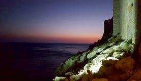 Ściana stary miasteczko Dubrovnik Zdjęcia Stock