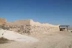 Ściana Tel Piwny Sheva, Izrael fotografia stock