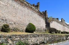 Ściana Trigonion wierza przy Saloniki, Grecja, Kastra, Ano Poli fotografia royalty free