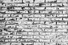 Ściana z cegieł biały i czarny Grunge tło. Obrazy Stock