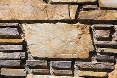 Ściana Z Cegieł z kopii przestrzenią na Wielkiej cegle Obraz Stock