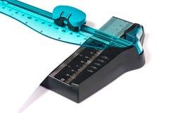 Ciano de papel do cortador foto de stock