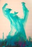Ciano figura colorata astratta Fotografia Stock Libera da Diritti