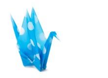 Ciano gru di origami Fotografia Stock