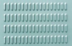 Ciano superficie di metallo di colore con i fori di ventilazione Fotografia Stock