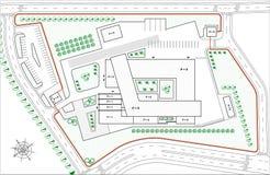 Cianografia della soluzione urbana per la costruzione di industria Immagini Stock Libere da Diritti