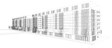 Cianografia di architettura 3d Fotografia Stock