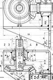 Cianografia di fabbricazione Immagini Stock