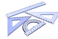Cianografia e strumenti di ingegneria Fotografia Stock