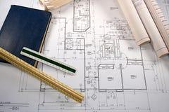 Cianografie architettoniche immagine stock