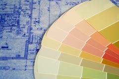 Cianografie e campioni della vernice Immagine Stock Libera da Diritti