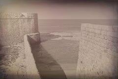 Ściany Akko w Izrael obrazy royalty free