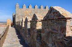 Ściany Avila, battlements Hiszpania Fotografia Stock