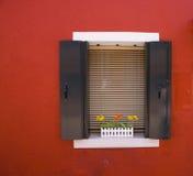 Ściany Burano, Wenecja Zdjęcia Royalty Free