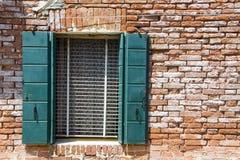 Ściany Burano, Wenecja Obrazy Royalty Free