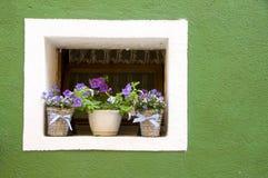 Ściany Burano, Wenecja Obraz Royalty Free