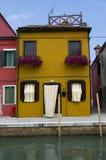 Ściany Burano, Wenecja Fotografia Stock