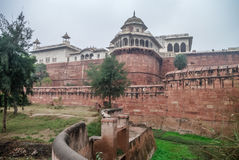 Ściany Czerwony fort Agra, India Obraz Stock