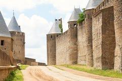 Ściany grodowy Carcassone Obraz Royalty Free