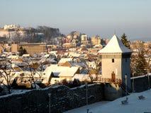 Ściany stary miasteczko, Brasov, Transilvania, Rumunia Obraz Royalty Free