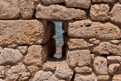 Ściany z lukami. Zdjęcia Stock