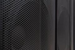 Ciao altoparlanti dell'estremità Controlli il sistema acustico ad alta fedeltà per lo studio di registrazione sano Immagini Stock