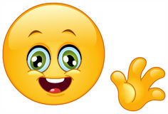Ciao emoticon Immagine Stock