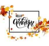 Ciao foglie di autunno royalty illustrazione gratis