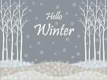 Ciao fondo di ferie di inverno illustrazione di stock
