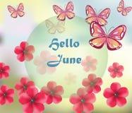 Ciao fondo di giugno Immagini Stock