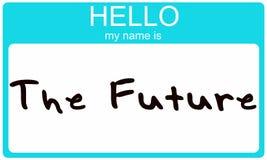 Ciao il mio nome è il futuro. illustrazione di stock
