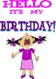 Ciao il suo mio compleanno Immagine Stock