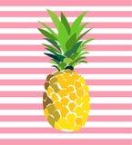 Ciao illustrazione dell'ananas di estate Immagine Stock