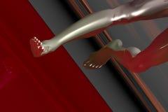 Ciao le gambe del corridore di tecnologia Immagine Stock Libera da Diritti