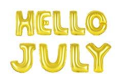Ciao luglio, colore dell'oro Fotografie Stock Libere da Diritti