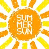 Ciao manifesto di estate illustrazione vettoriale