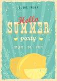 Ciao manifesto di estate Fondo di estate Effettua il manifesto, la struttura, fondo di colori ed il testo di colori è editabile f illustrazione di stock