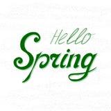 Ciao primavera royalty illustrazione gratis