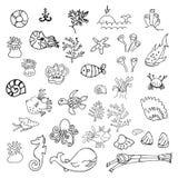 Ciao raccolta di estate delle icone royalty illustrazione gratis