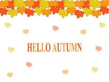 Ciao scrittura di caduta di autunno Immagini Stock Libere da Diritti