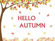 Ciao scrittura di caduta di autunno Fotografia Stock