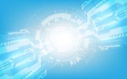 Ciao sedere digitali astratte di vettore di concetto dell'innovazione di tecnologia di tecnologia illustrazione di stock