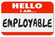 Ciao sono etichetta utilizzabile Job Seeker Qualified Candidate di nome Fotografia Stock