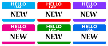 Ciao sono nuove etichette di nome illustrazione vettoriale